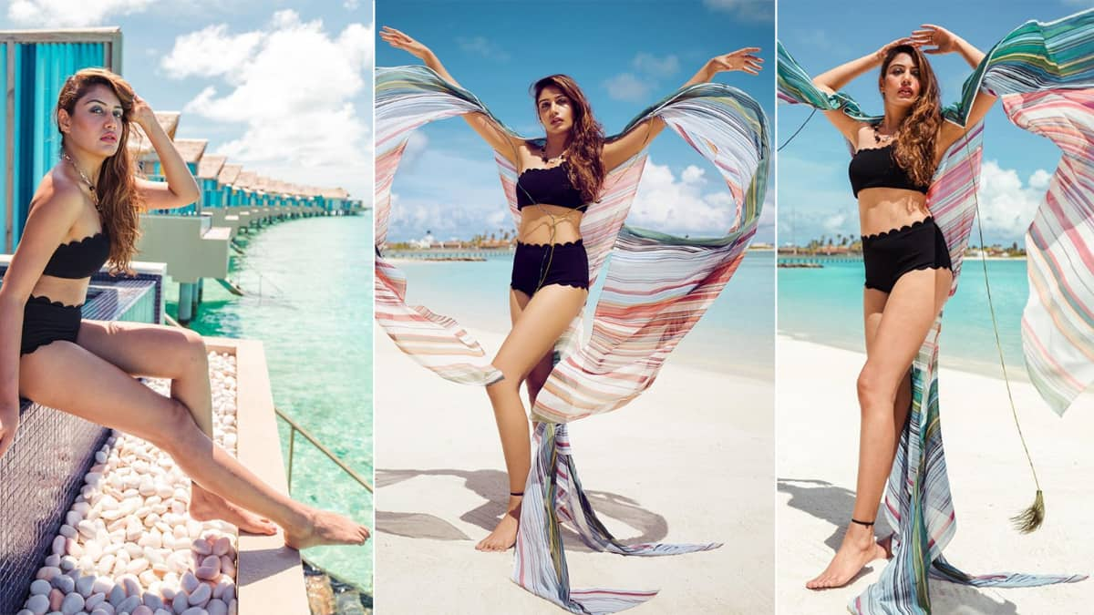 Surbhi Chandna Goes Sultry In Hot Black Bikini As She Poses Sensuously In Maldives