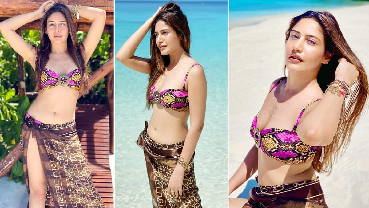 Surbhi Chandna is soaking up all the Maldives vibes in an uber hot pink bikini