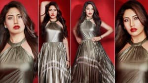 Surbhi Chandna is Too Hot to Handle in a Metallic Gown| See Stunning Photos