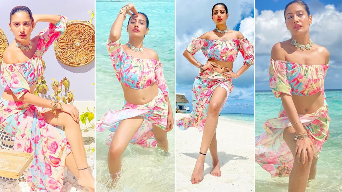 Surbhi Chandna Looks Phenomenal in a Floral Separates