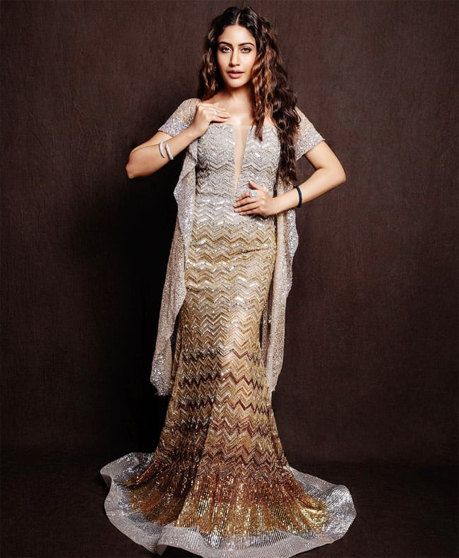Surbhi Chandna looks stunning in a glittery sculpted gown