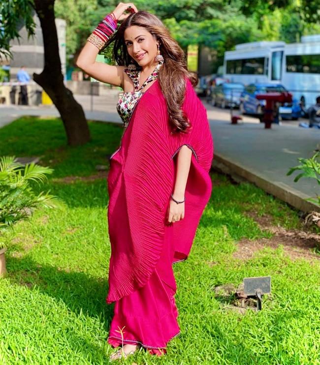 Surbhi Chandna rocks a red saree in Naagin 5