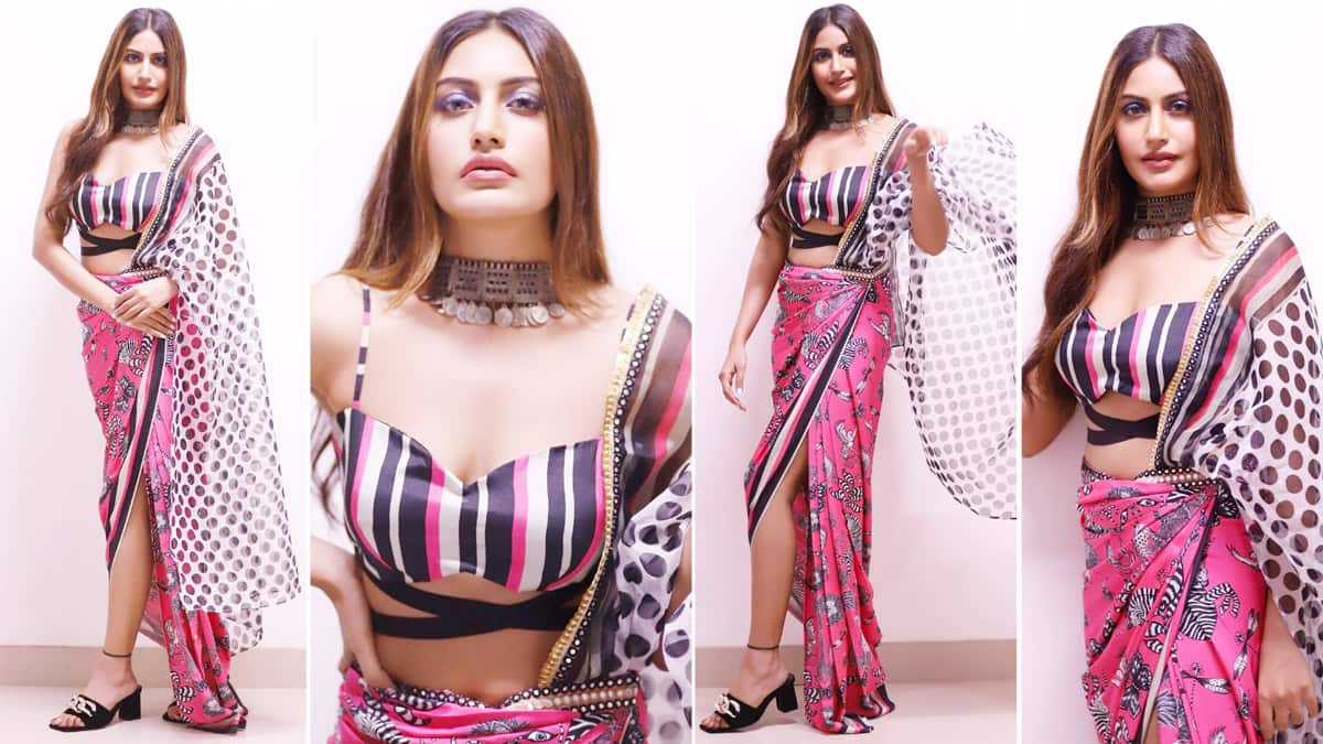 Surbhi Chandna  Sets Fans Into Tizzy With Her Hot Saree Look