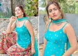 Surbhi Chandna Looks as Fresh as a Ray of Sunlight in a Turquoise Kurti And Velvet Plazzo, as She Dresses up For Shivratri Sequence in 'Sanjivani'