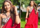 Surbhi Chandna's Sultry Photos in a Red Saree From Naagin 5 Sets Raise Temperature - See Viral Pics