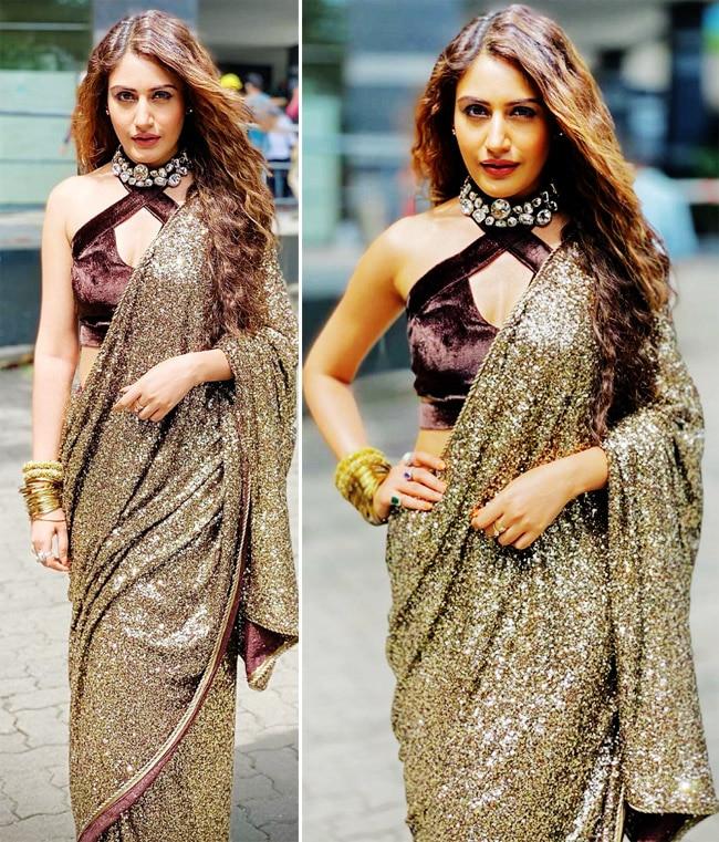 Surbhi Chandna wears a glamourous saree