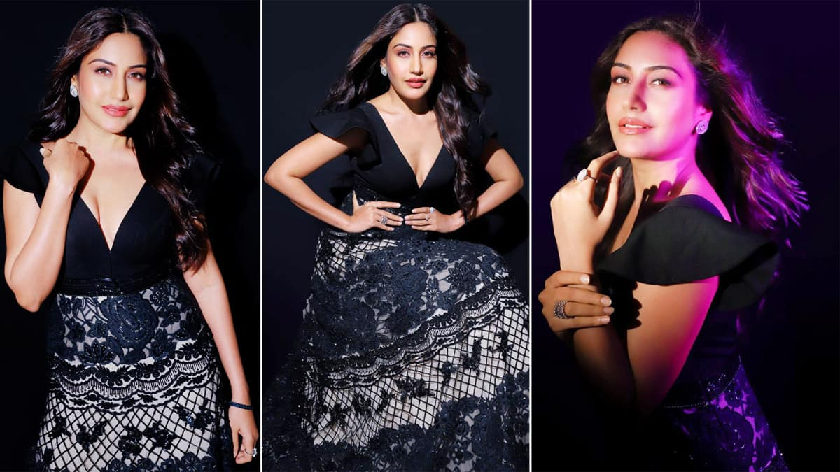 Surbhi Chandna Wears a gorgeous black gown That Is Ideal For Intimate Cocktail Affair