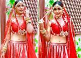 Surbhi Chandna Turns Bride, Wears Red Lehenga And Pearl Jewellery For Naagin 5