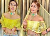 Surbhi Chandna's sizzling avatar in a beautiful shimmery lehenga and crop top