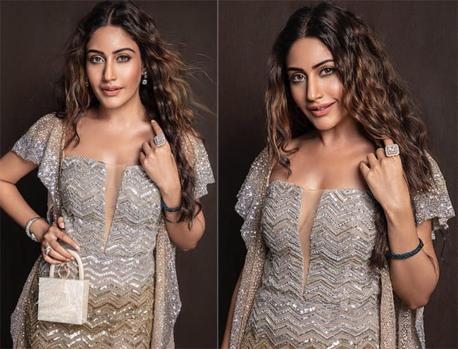 Surbhi Chandna   s sizzling avatar in a bronze shimmery gown from the latest collection    enchanted