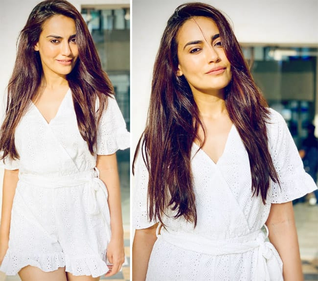 Surbhi Jyoti Looks Stunning in White Dress in Latest Sun kissed Pictures