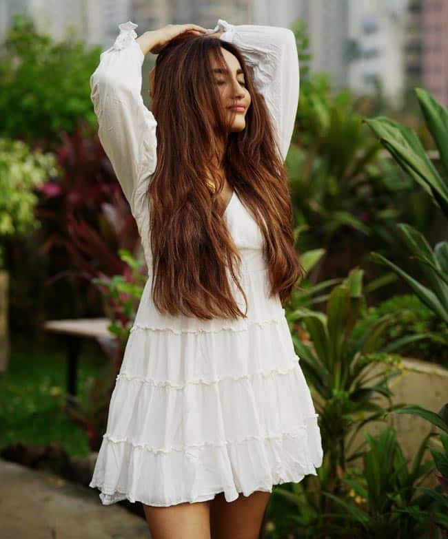 Surbhi Jyoti shares new pictures wearing a white frock