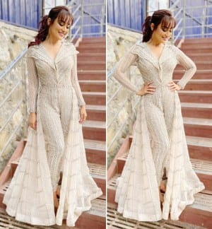 Surbhi Jyoti Looks Glamorous at The 'Naagin 4' Launch Event, See Pictures