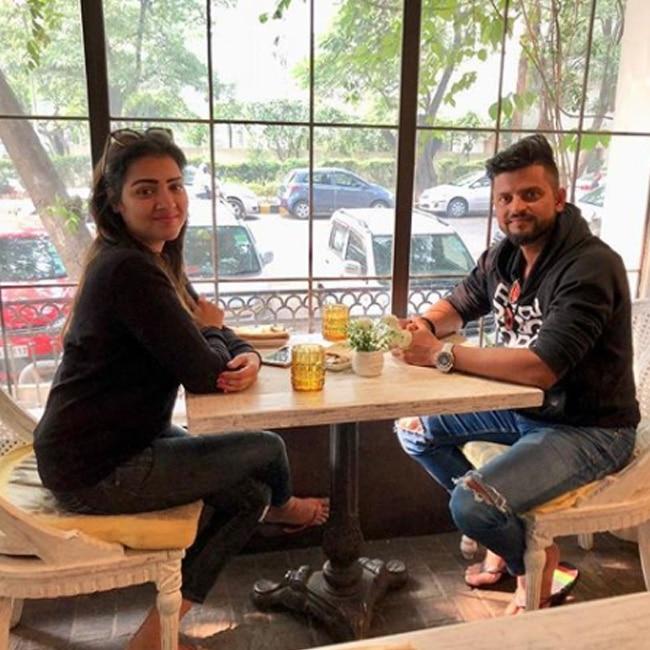 Suresh Raina on breakfast date with wife  Priyanka