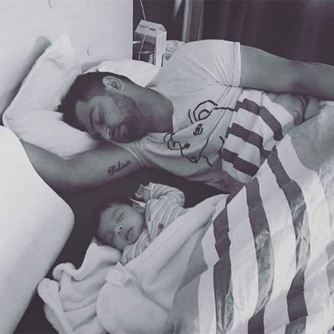 Suresh Raina snapped with his cute daughter