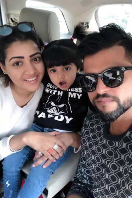 Suresh Raina With Family On Dhanteras