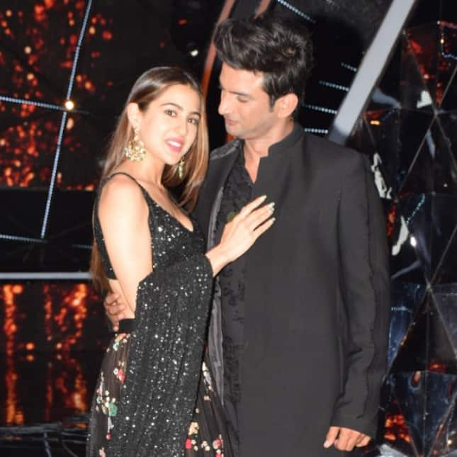 Sushant and Sara looked stylish