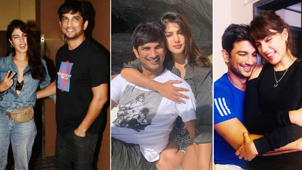 Sushant Singh Rajput Death Anniversary  Rhea Chakraborty And SSR Loved Up Pictures