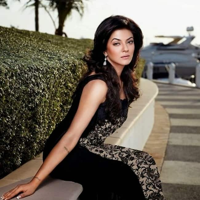 Sushmita Sen poses for a black hot picture