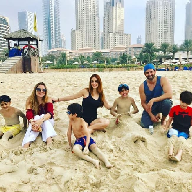 Image result for hrithik with sujain, india.com