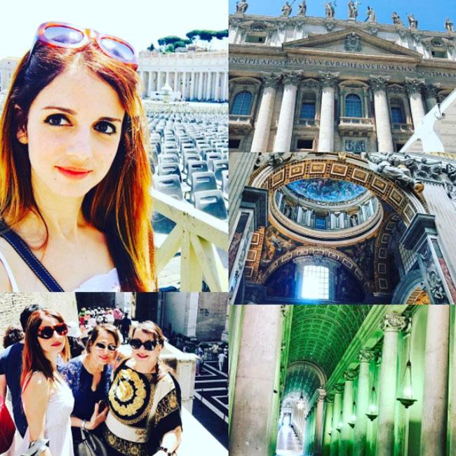 Suzanne Khan Roshan exploring Italy  Rome