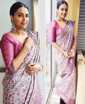 Swara Bhasker Weaves Kashmir Issue in Pashmina Saree And THESE Smoking Hot Pictures Are Proof!