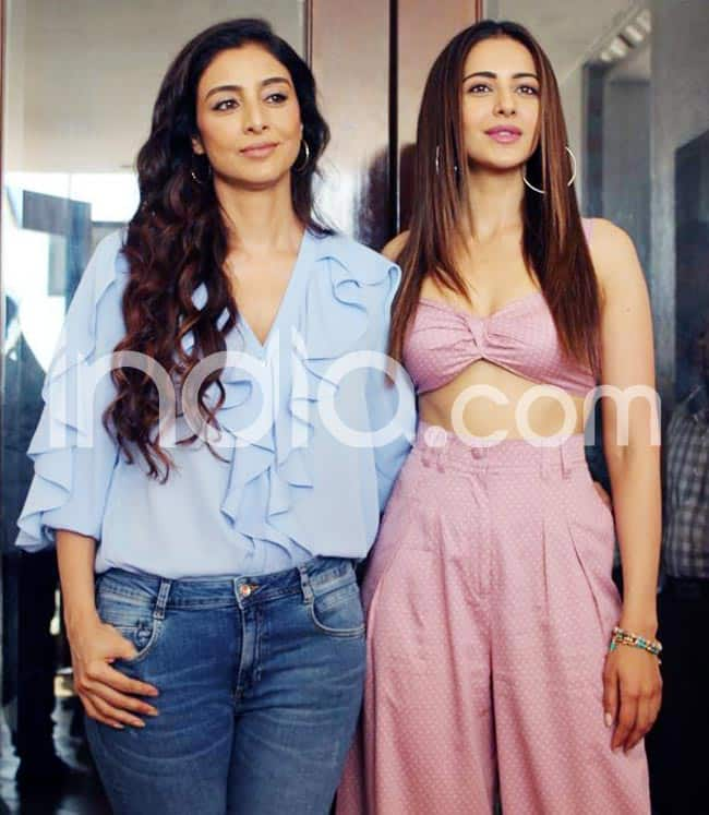 Tabu and Rakul promote their film