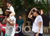 Taimur Ali Khan Piggybacks on Daddy Saif's Shoulders While Crossing Road