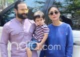 Taimur Poses With Parents Kareena And Saif