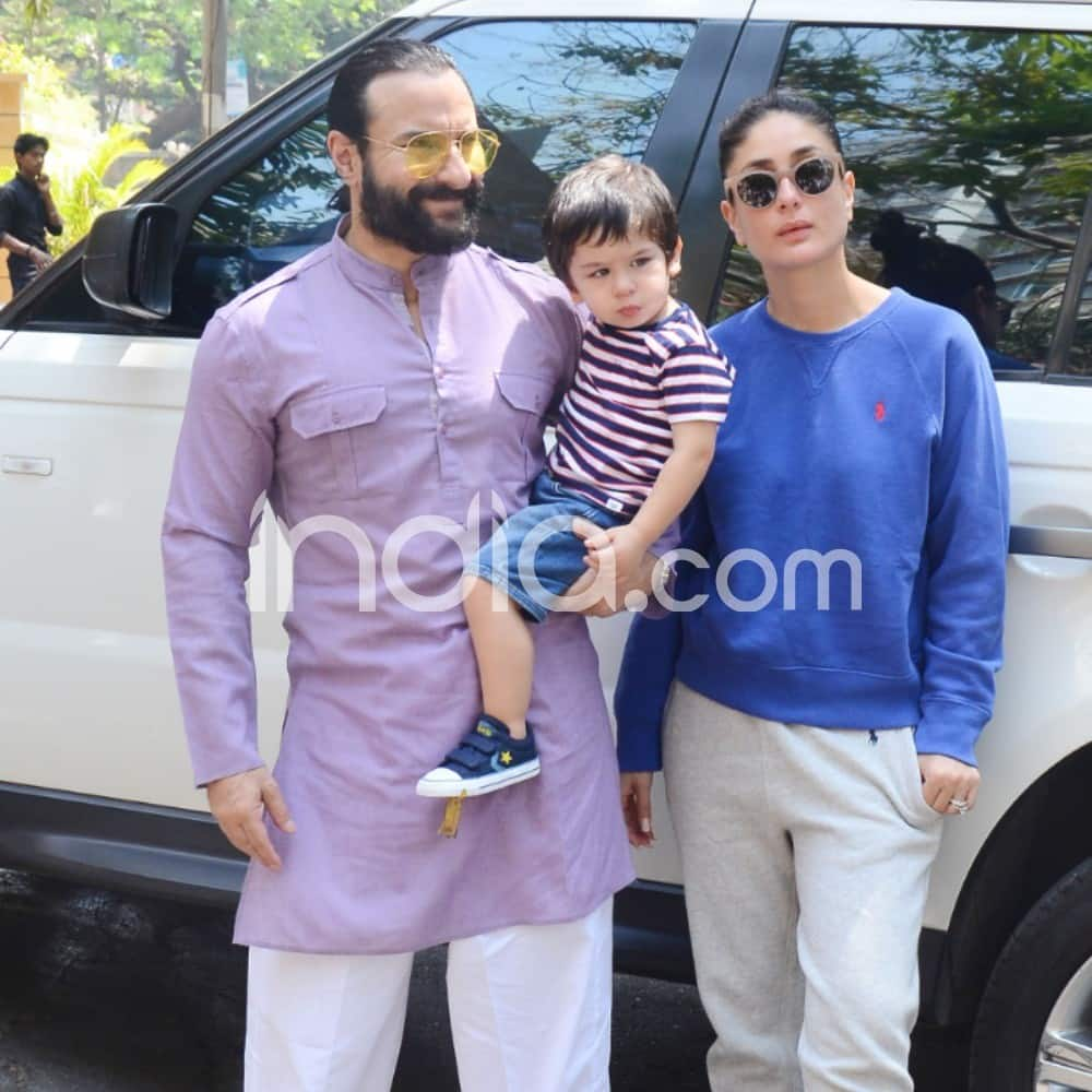 Taimur Ali Khan chills with parents Saif Ali Khan and Kareena Kapoor Khan
