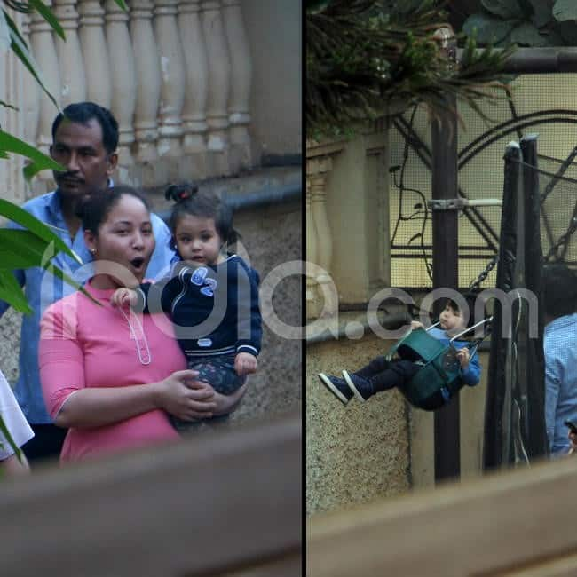 Taimur and Inaaya s latest pictures are out