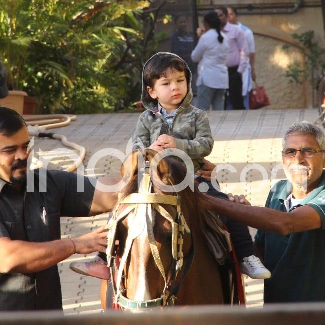 Taimur enjoys ride