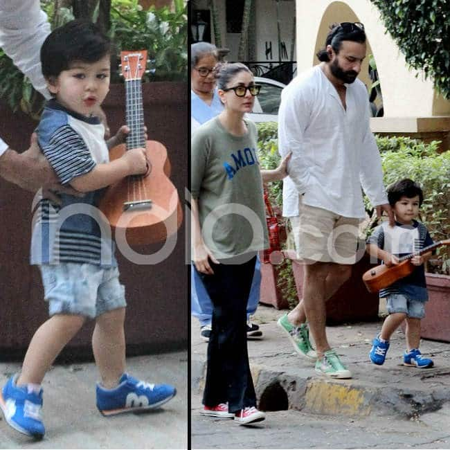 Taimur gets clicked with guitar