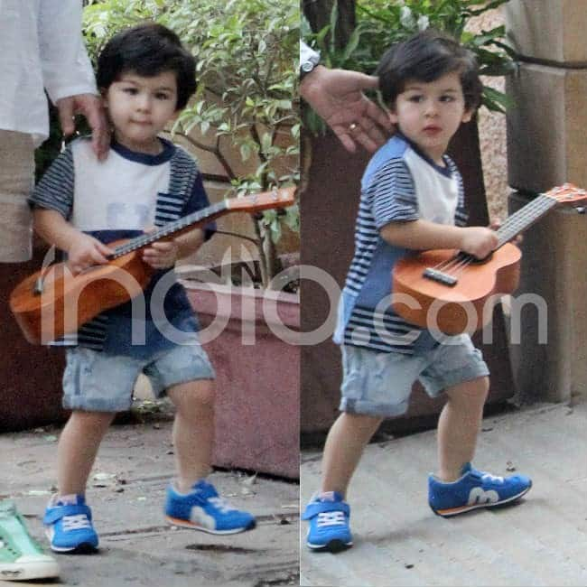 Taimur refused to part ways with his guitar
