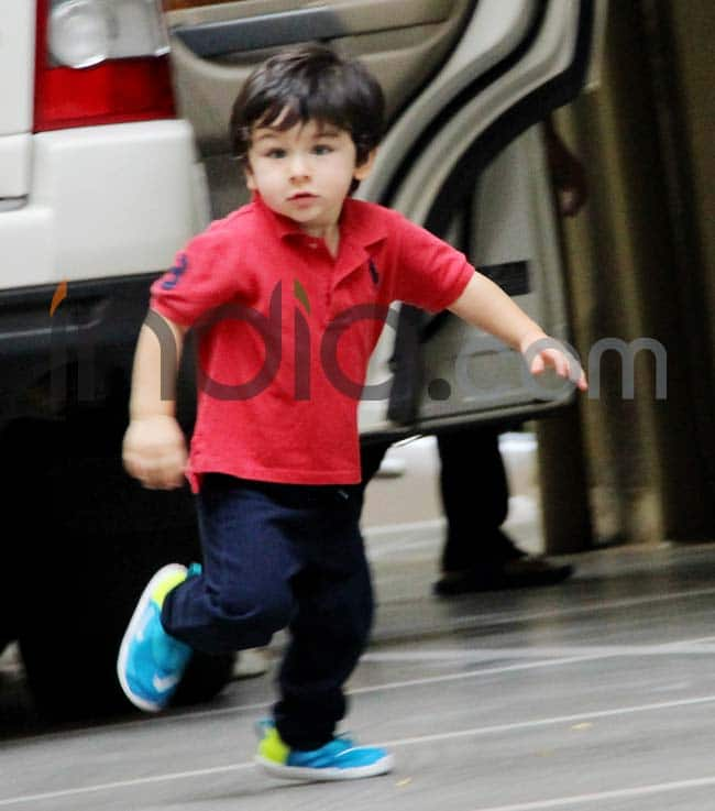 Taimur runs with swag