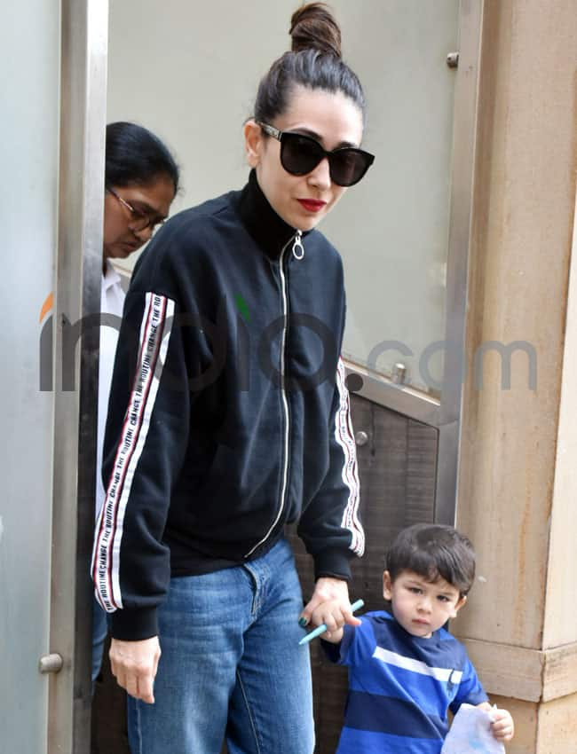 Taimur s day out with Karisma Kapoor