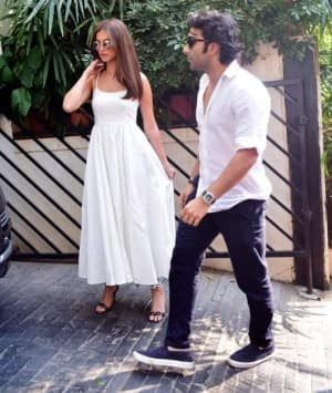 Tara Sutaria-Aadar Jain Twin in White as They Celebrate Together at Kapoor's Annual Christmas Lunch