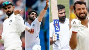 Team India for ICC World Test Championship Final |In Photos
