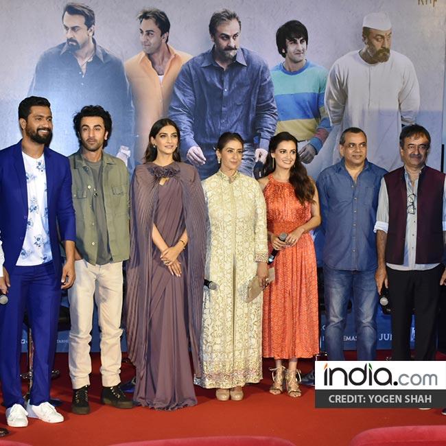 Team of Sanju movie at trailer launch event