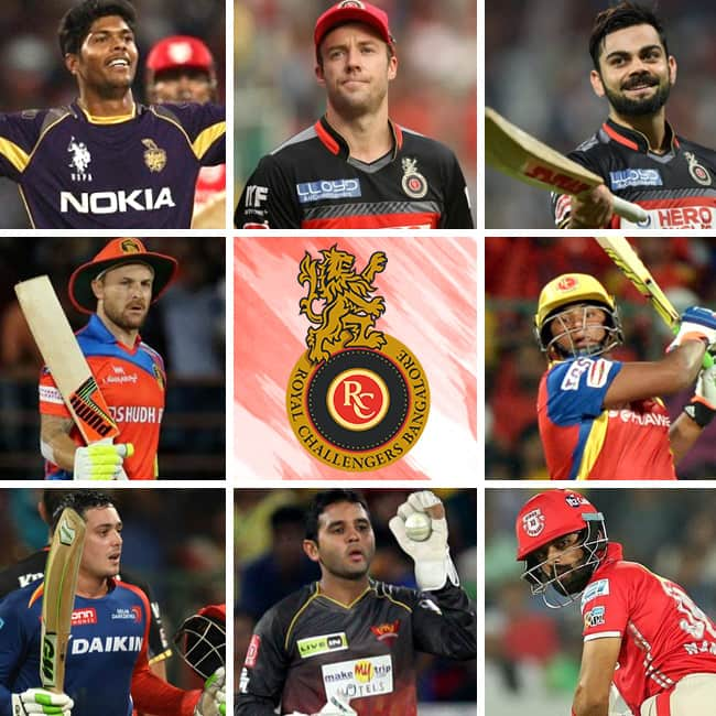 Team squad of Royal Challengers Bangalore of IPL 2018