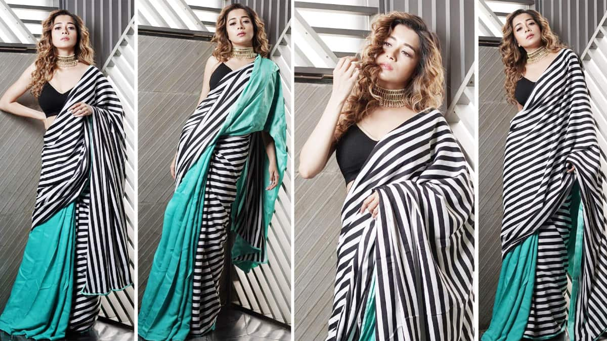 Television  bahu  Tina Datta Stunning Saree Look