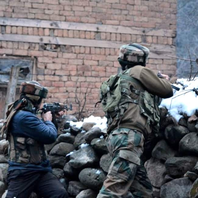 Terrorists attack army convoy in Jammu and Kashmir   s Qazigund district  encounter underway