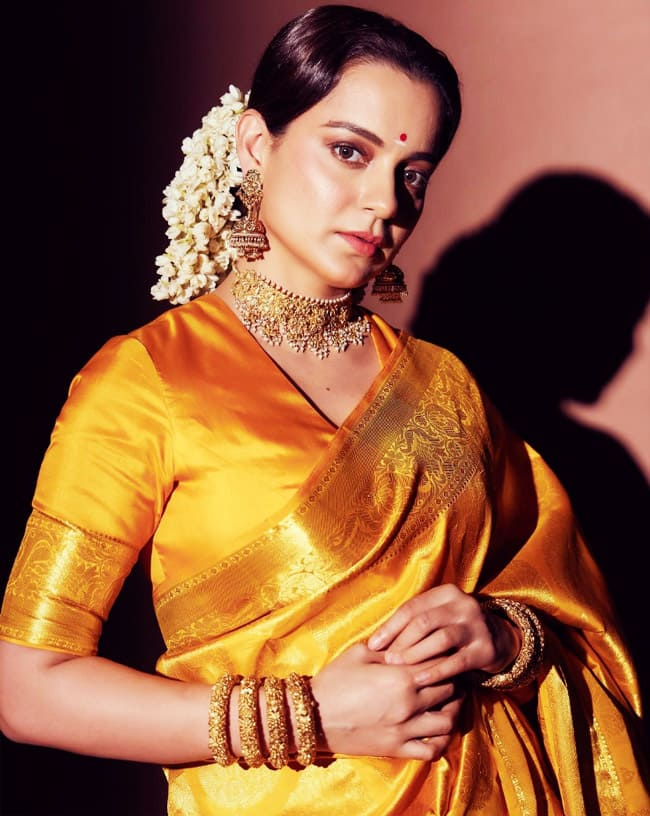 Thalaivii Kangana Ranaut dons yet another gorgeous saree from her personal connection