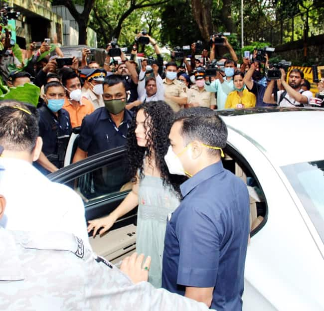 The BMC demolished a part of Kangana Ranaut   s office