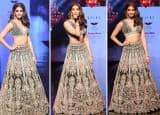 Pooja Hegde Looks Ethereal in Green Velvet Lehenga With Sexy Blouse as Showstopper – See Stunning Pics