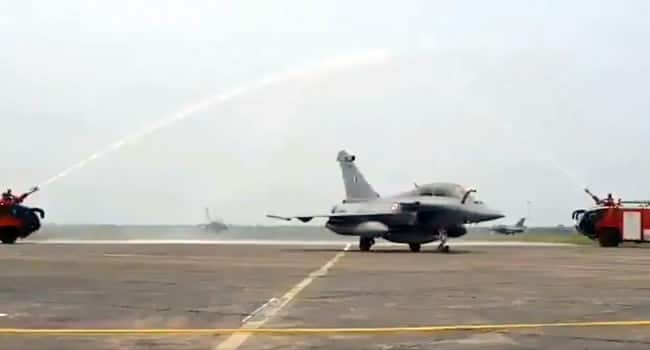 The fighter jets received warm welcome at the Ambala airbase in Haryana