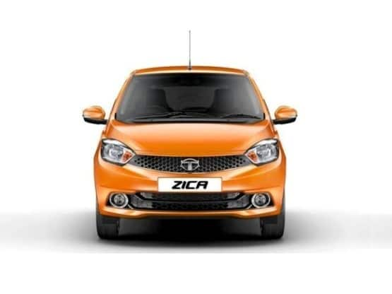 The front fascia of Tata Zica  gets a honeycomb grille with company logo which is already seen in the Bolt and Zest along with sleeky headlamp cluster  wider air dam  fog lamps and defogger