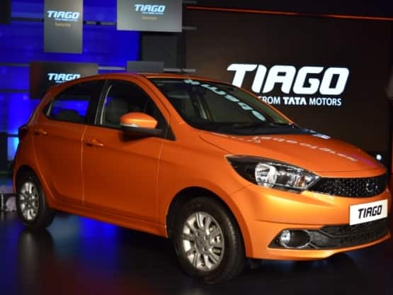The Tata Tiago has been launched in India at an introductory price of INR 3 20 lakh  ex showroom Delhi   The car is available for bookings with a down payment of INR 10000  The car features Tata  039 s new Impact Design Philosophy  The Tiago will compete against the likes of the Maruti Suzuki Celerio and the Chevrolet Beat