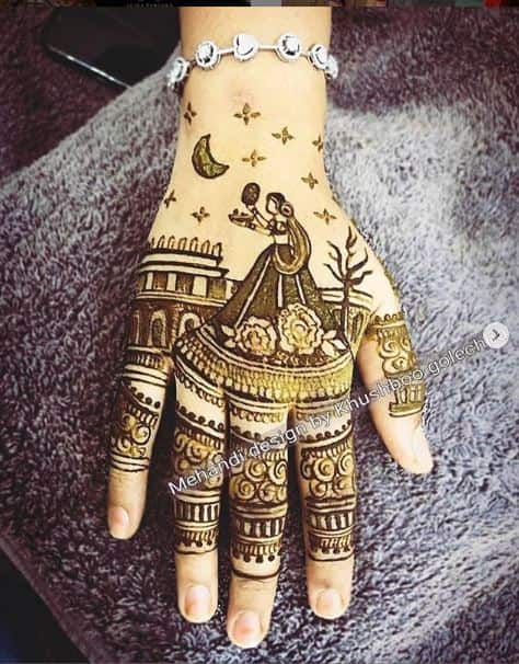 This year   s theme for mehendi will give you Karva Chauth goals