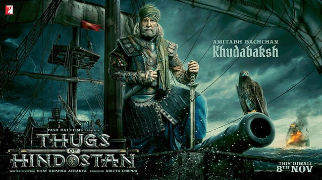 Thugs of Hindostan  First look of Amitabh Bachchan as Khudabaksh proves he is the biggest thug of all